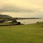 Wyspa Wielkanocna - zatoka z posągami Moai
