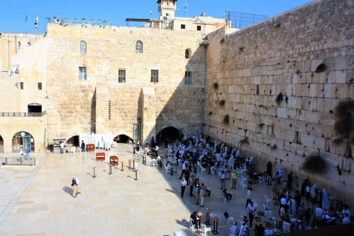 Ściana Płaczu. Jedyna pozostałość Świątyni Jerozolimskiej, ściana zachodnia