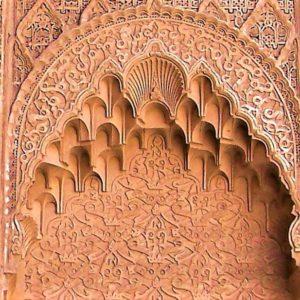 Arabeski i geometryczne ornamenty to ozdoba ścian zewnętrznych