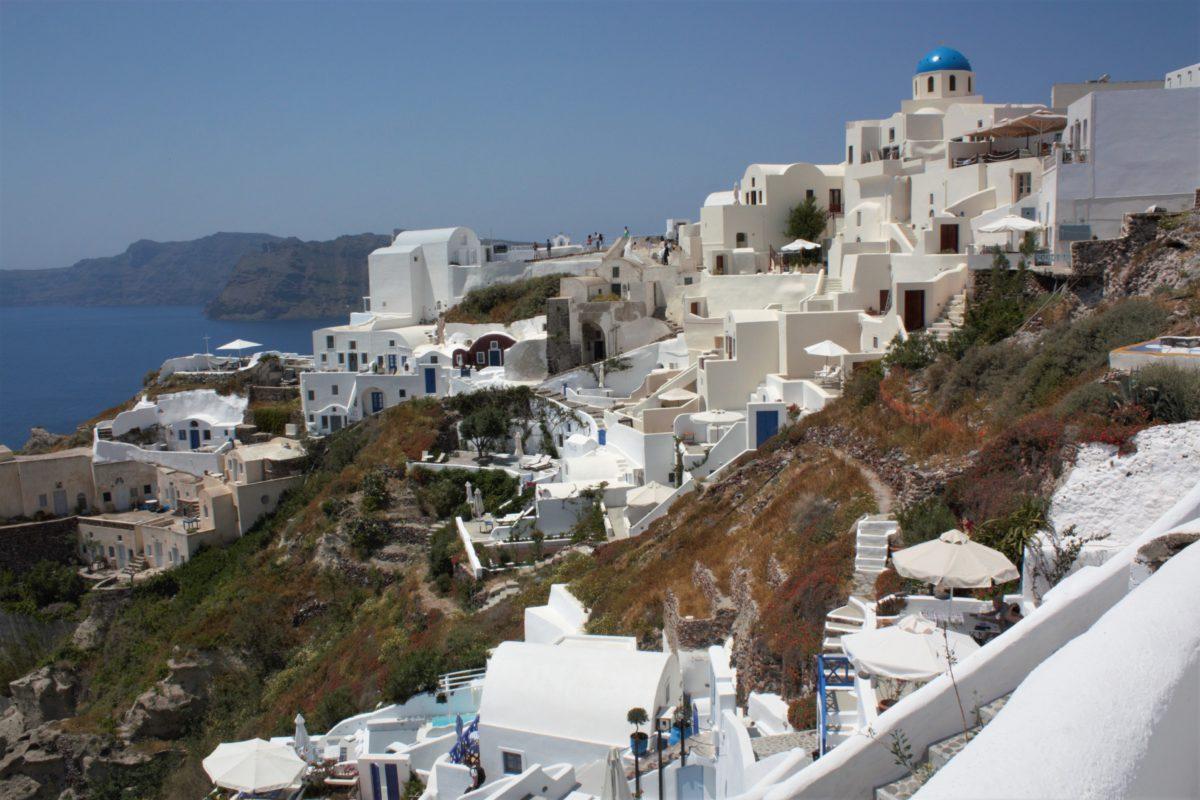 Na Santorini wykorzystany jest każdy, nawet najmniejszy skrawek ziemi