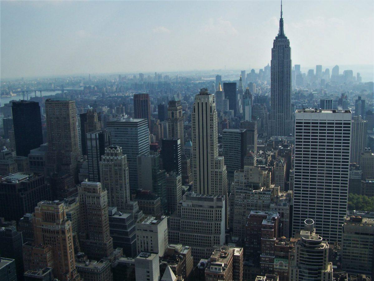 Panorama Manhattanu. Widok z tarasu Rockefeller Center