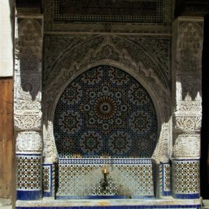 Woda jest w islamie symbolem wody, dlatego fontanny stają w Maroku niemal na każdym kroku