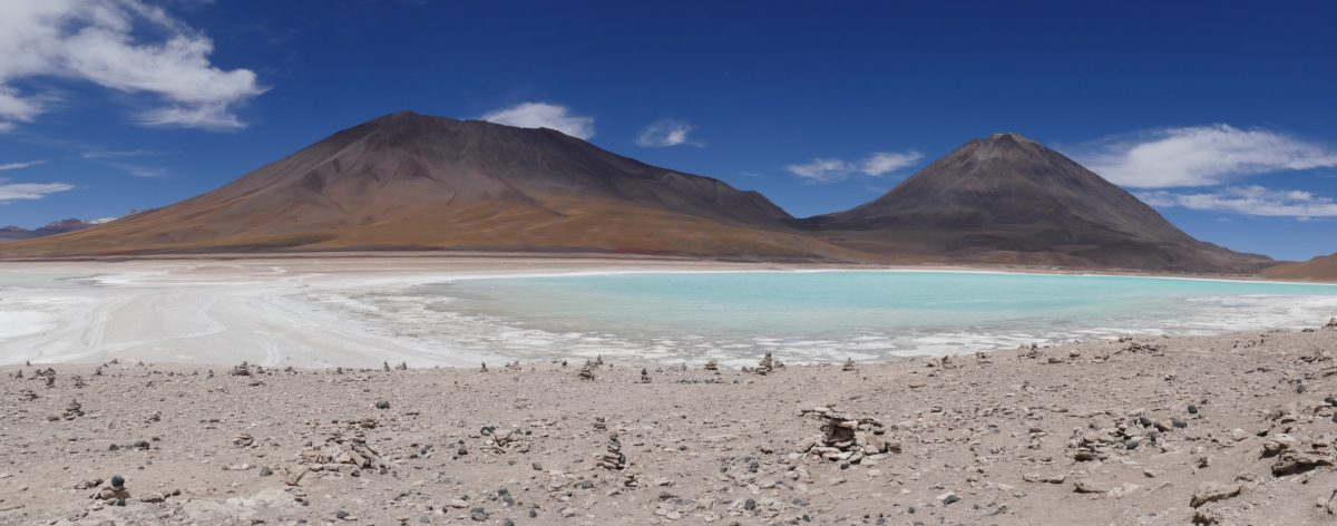 Laguna Verde. Zielona laguna na płaskowyżu Altiplano