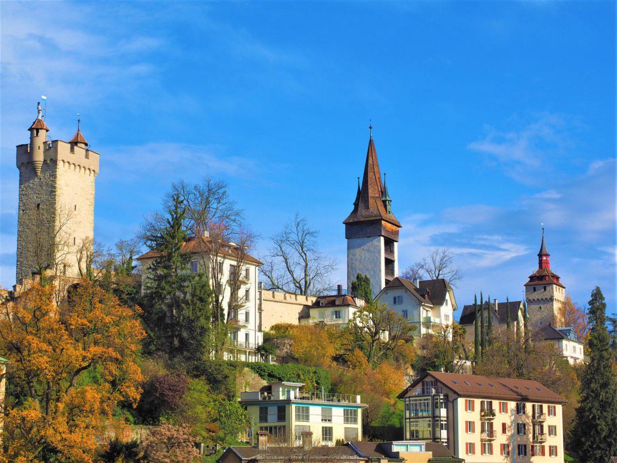 Fragment fortyfikacji Lucerny. Miasto posiadało bardzo rozbudowany system umocnień