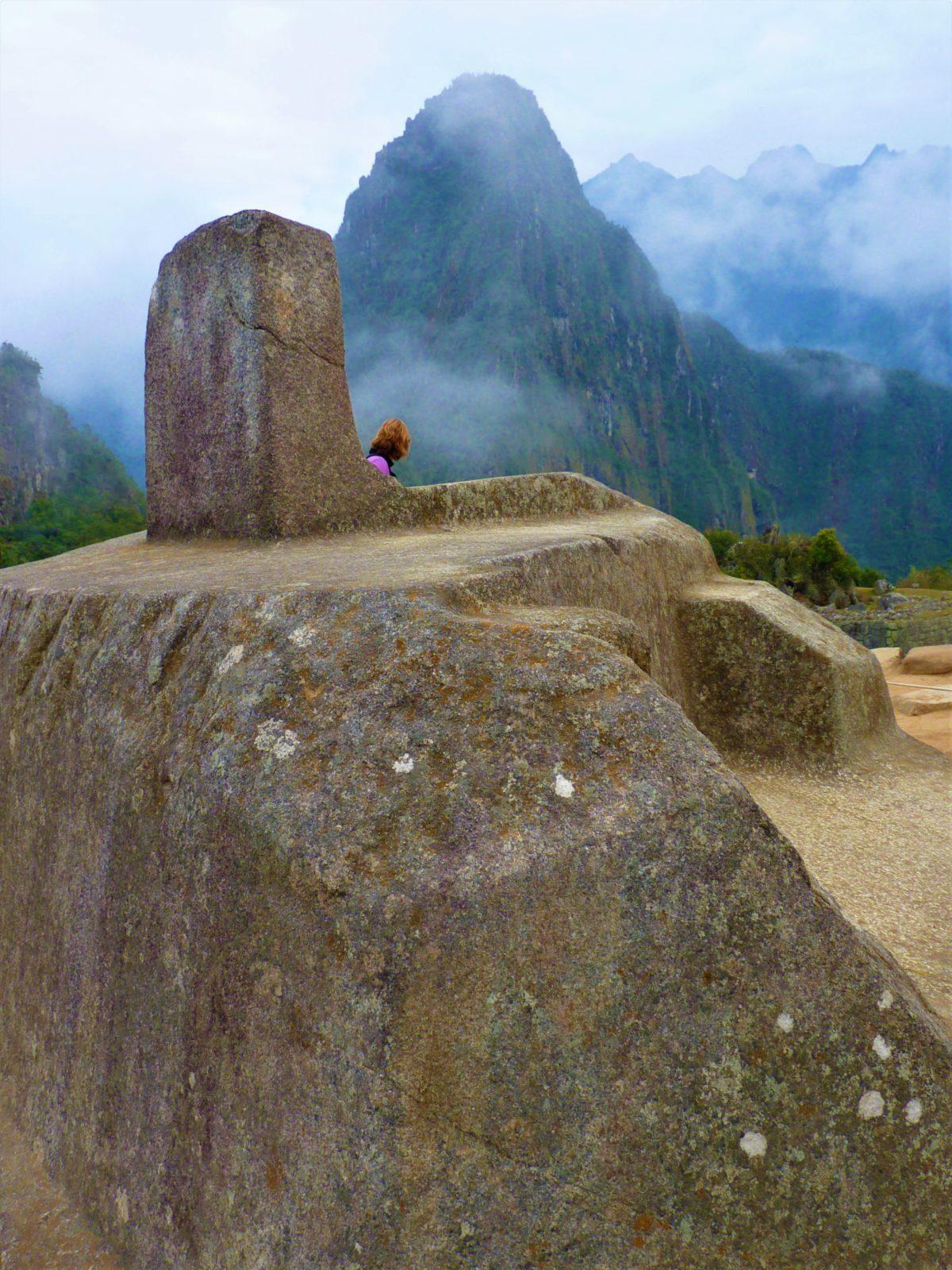 Święty kamień Intihuatana w Machu Picchu