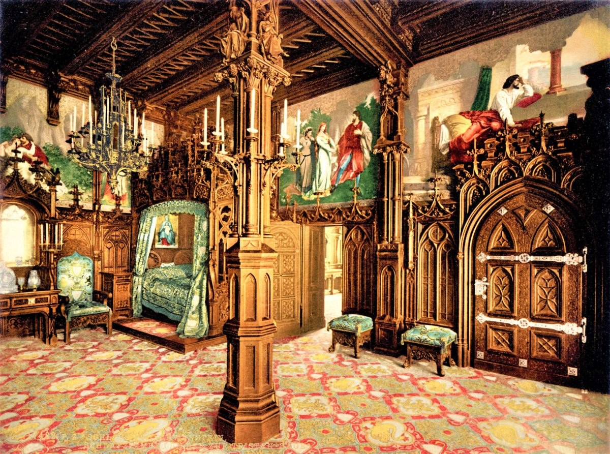 Komnata sypialna w zamku Neuschwanstein