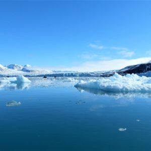 Lodowa pokrywa na wyspie Spitsbergen, największej w archipelagu Svalbardu